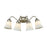 Thomas Lighting CN570412 Califon 4 Light For The Bath In Brushed Nickel With White Glass Brushed Nickel