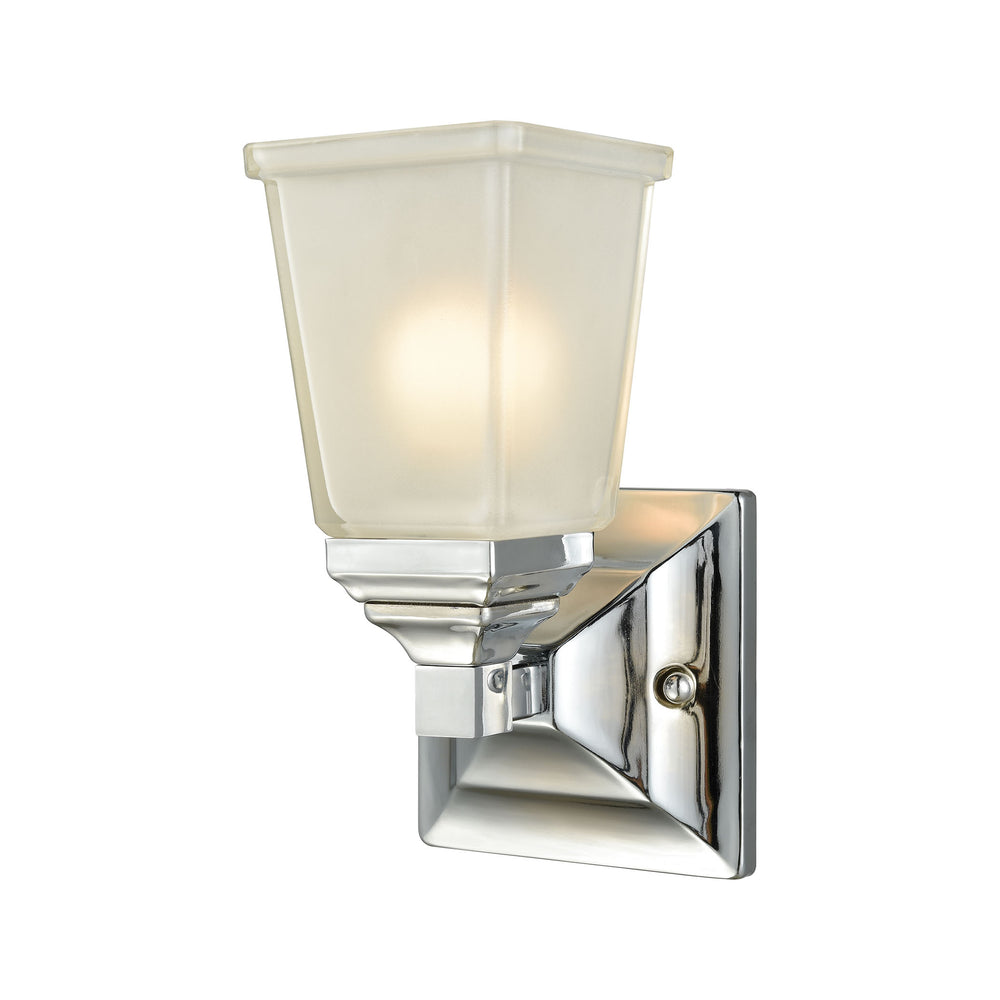 Thomas Lighting CN573172 Sinclair 1 Light For The Bath In Polished Chrome With Frosted Glass Polished Chrome