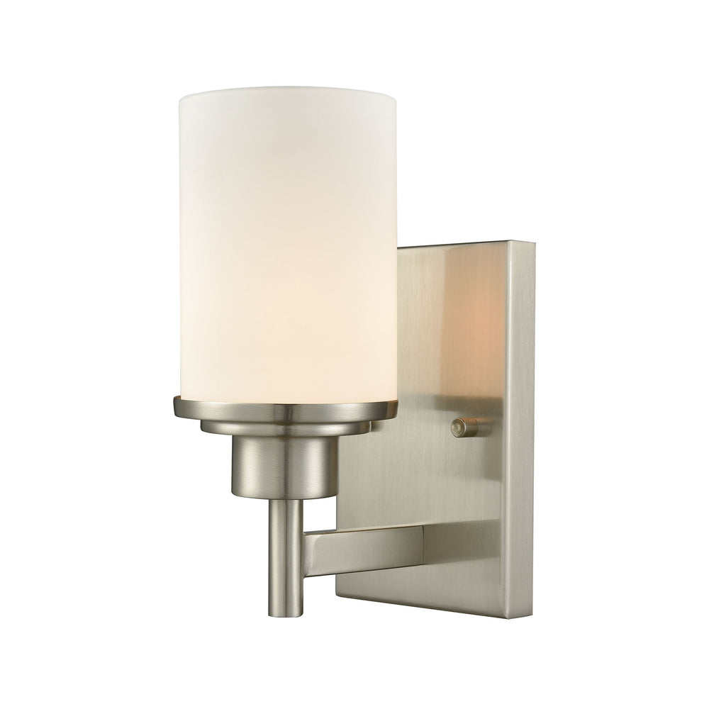 Thomas Lighting CN575172 Belmar 1 Light For The Bath In Brushed Nickel With Opal White Glass Brushed Nickel
