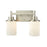 Thomas Lighting CN575212 Belmar 2 Light For The Bath In Brushed Nickel With Opal White Glass Brushed Nickel