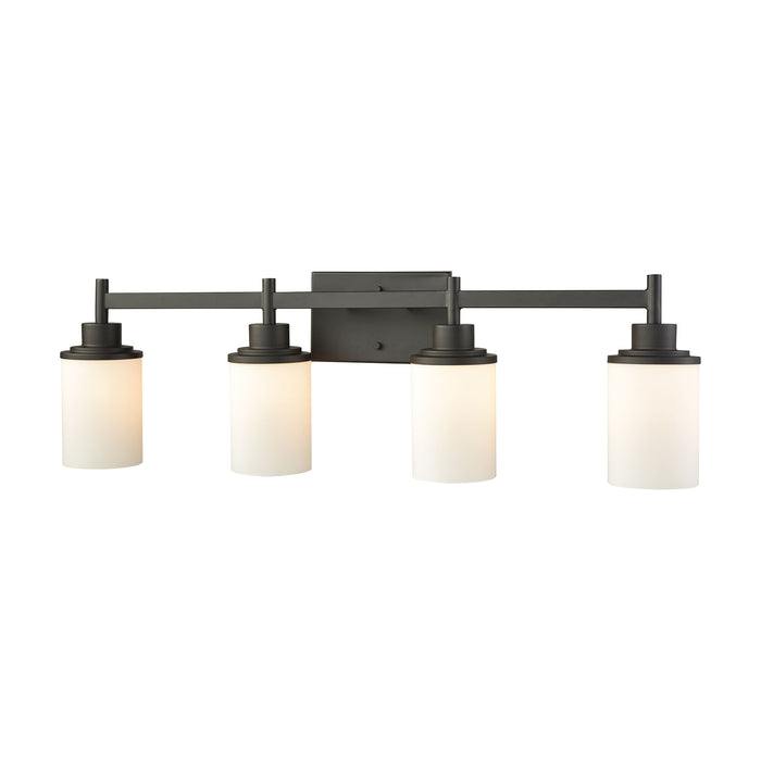 Thomas Lighting CN575411 Belmar 4 Light For The Bath In Oil Rubbed Bronze With Opal White Glass Oil Rubbed Bronze