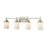 Thomas Lighting CN575412 Belmar 4 Light For The Bath In Brushed Nickel With Opal White Glass Brushed Nickel