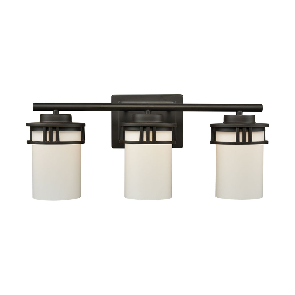 Thomas Lighting CN578311 Ravendale 3 Light For The Bath In Oil Rubbed Bronze With Opal White Glass Oil Rubbed Bronze