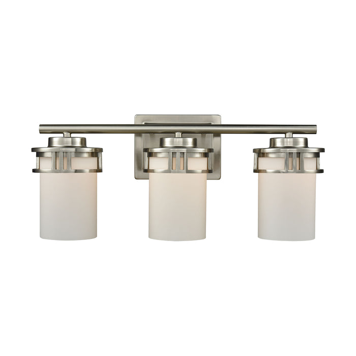 Thomas Lighting CN578312 Ravendale 3 Light For The Bath In Brushed Nickel With Opal White Glass Brushed Nickel