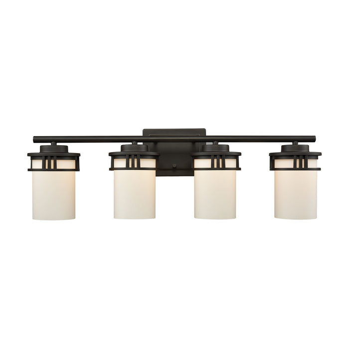 Thomas Lighting CN578411 Ravendale 4 Light For The Bath In Oil Rubbed Bronze With Opal White Glass Oil Rubbed Bronze