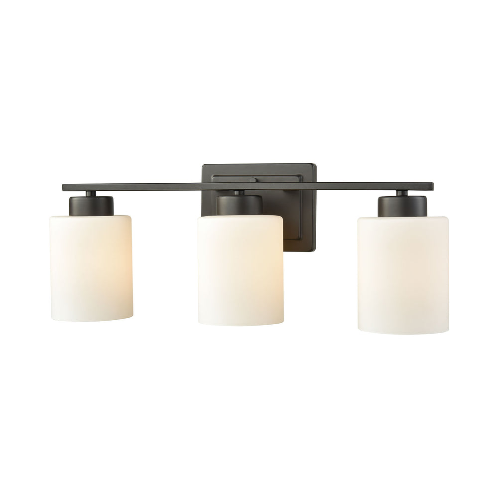 Thomas Lighting CN579311 Summit Place 3 Light For The Bath In Oil Rubbed Bronze With Opal White Glass Oil Rubbed Bronze