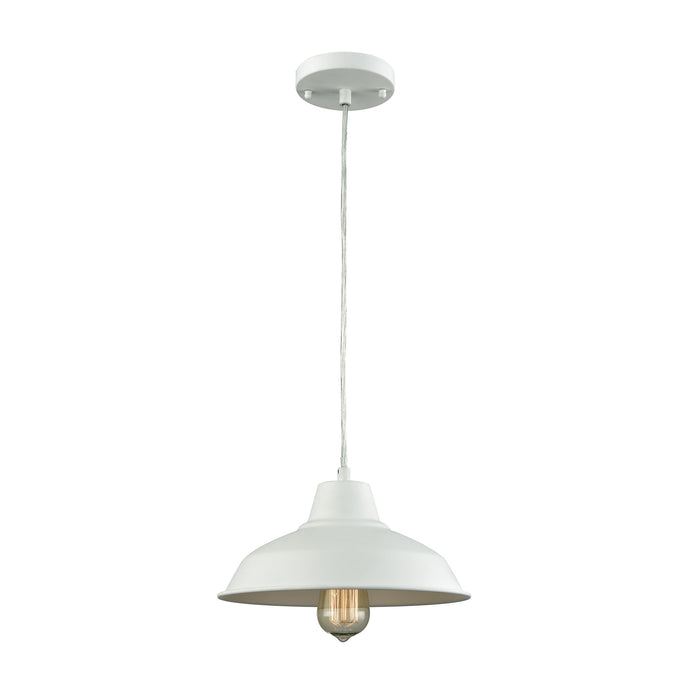 Thomas Lighting CN770144 Classic Loft 1 Light Pendant In White White