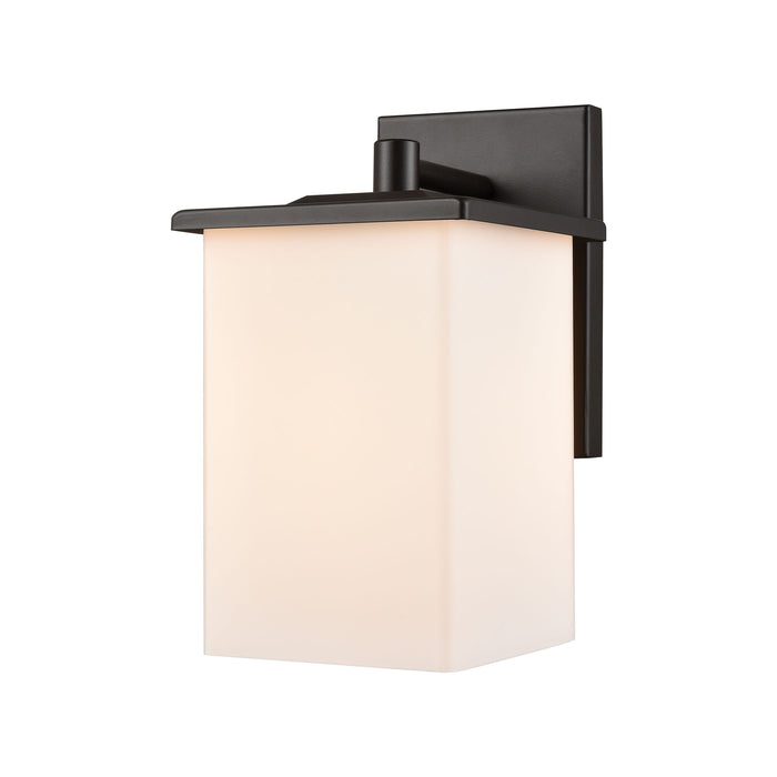 Thomas Lighting EN111126 Broad Street 1 Light Exterior Wall Sconce In Textured Black Textured Black