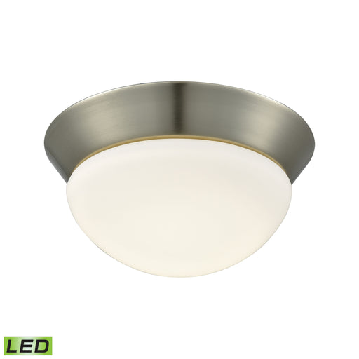 ELK Lighting FML7125-10-16M 1 Light LED Flush Mount In Satin Nickel And Opal Glass - Small Satin Nickel 25 Parcel Delivery