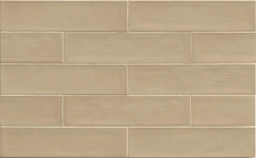 "Tongue in Chic 2.5"" x 10.5"" Wall Tile in Cut me some Flax, Sold by the Carton"