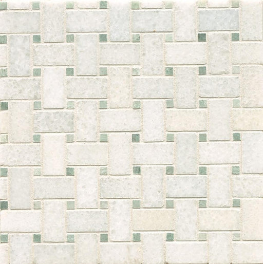 Mod Rocks Floor and Wall Mosaic in Italian Ice and Ming Green, Sold by the Piece
