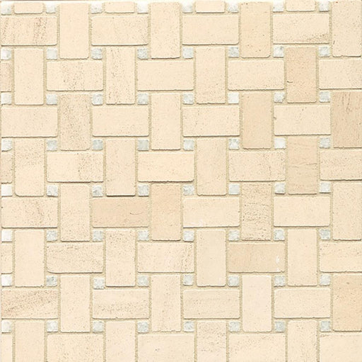 Mod Rocks Floor and Wall Mosaic in Italian Ice Dot and Organic, Sold by the Piece