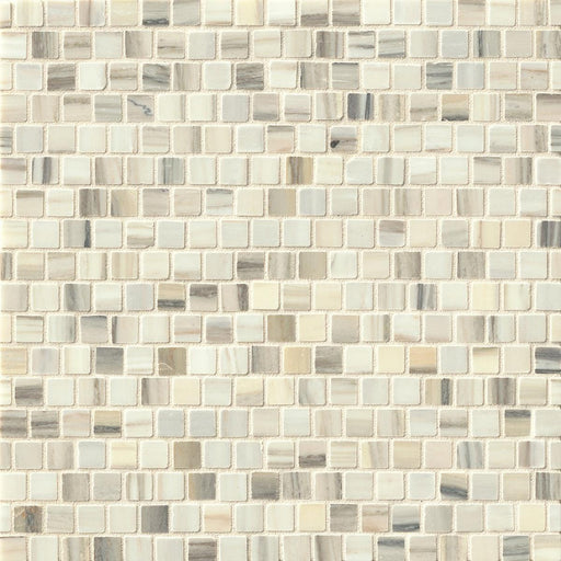 "Vanity Honed 5/8"" x 5/8"" Floor and Wall Off Set Mosaic in Zebrino, Sold by the Piece"