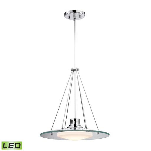 ELK Lighting LC414-PW-80 1 Light LED Pendant In Chrome And Opal Glass Chrome Free Parcel Delivery