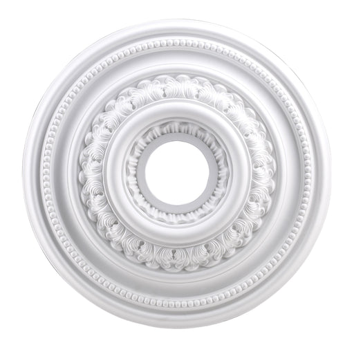 "ELK Lighting M1002WH English Study Medallion 18"" In White Finish White $25 Parcel Delivery"