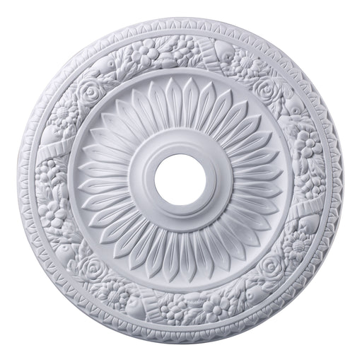 "ELK Lighting M1006WH Floral Wreath Medallion 24"" In White Finish White Free Parcel Delivery"
