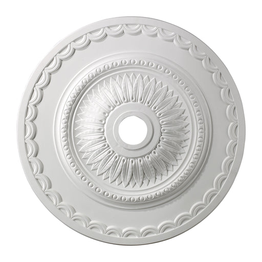 "ELK Lighting M1008WH Brookdale Medallion 30"" In White Finish White Free Parcel Delivery"
