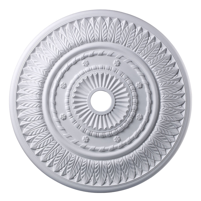 "ELK Lighting M1013WH Corinna Medallion 33"" In White Finish White Free Parcel Delivery"