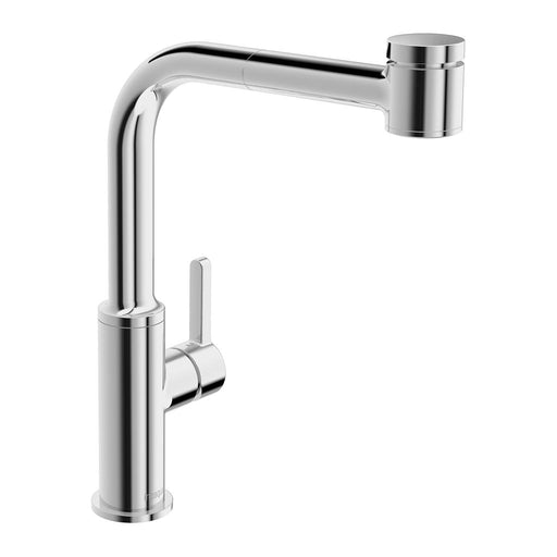 in2aqua Edge High Arc Single-Lever Kitchen Faucet With Swivel Spout, Pull-Out Spray, Chrome 6001 1 00 2 Free Parcel Delivery