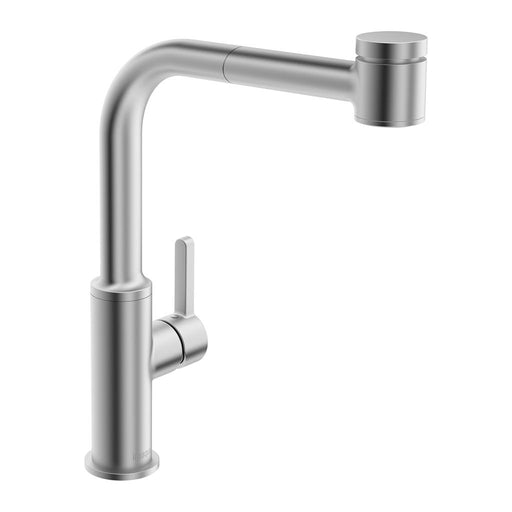 in2aqua Edge High Arc Single-Lever Kitchen Faucet With Swivel Spout, Pull-Out Spray, Stainless Steel 6001 1 80 2 Free Parcel Delivery