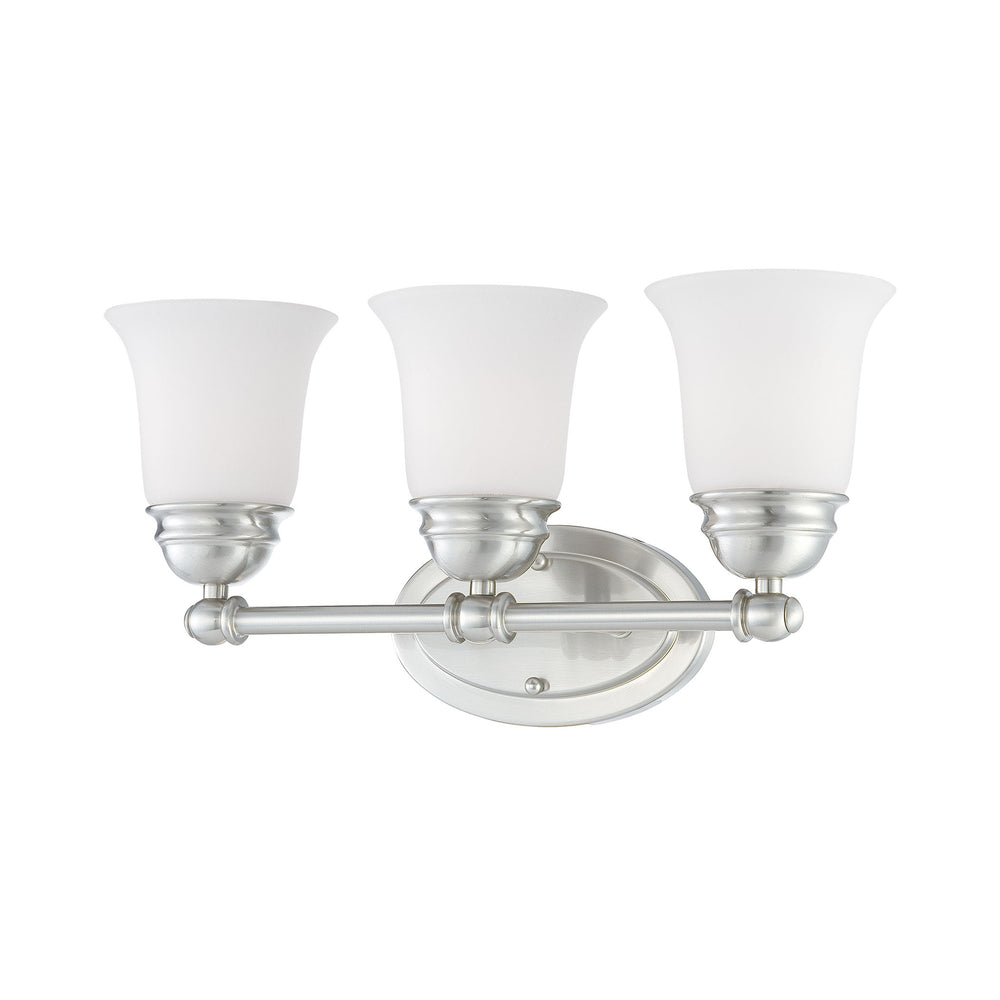 Thomas Lighting SL714378 Bella 3 Light Wall Lamp In Brushed Nickel Brushed Nickel