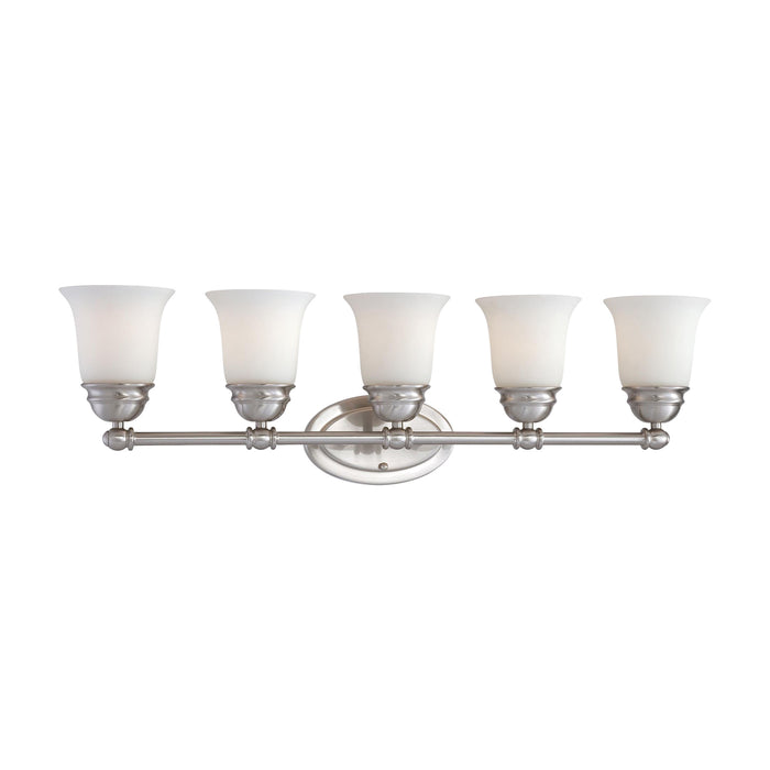 Thomas Lighting SL714578 Bella 5 Light Wall Lamp In Brushed Nickel Brushed Nickel