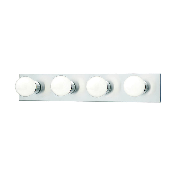 Thomas Lighting SL740278 Vanity Strips 4 Light Wall Lamp In Brushed Nickel Brushed Nickel