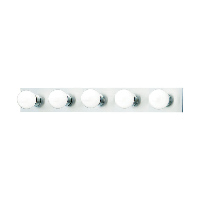 Thomas Lighting SL741578 Vanity Strips 5 Light Wall Lamp In Brushed Nickel Brushed Nickel