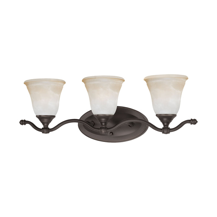 Thomas Lighting SL760362 Harmony 3 Light Wall Lamp In Aged Bronze Aged Bronze