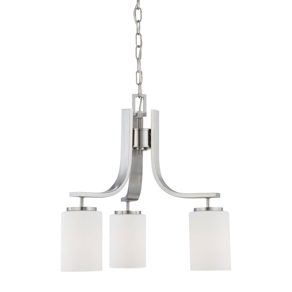 Thomas Lighting SL806878 Pendenza 3 Light Chandelier In Brushed Nickel Brushed Nickel