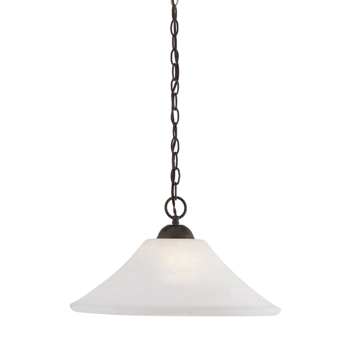 Thomas Lighting SL820063 Elipse 1 Light Pendant In Painted Bronze Painted Bronze