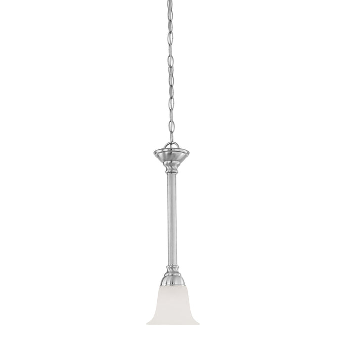Thomas Lighting SL820678 Riva 1 Light Pendant In Brushed Nickel Brushed Nickel