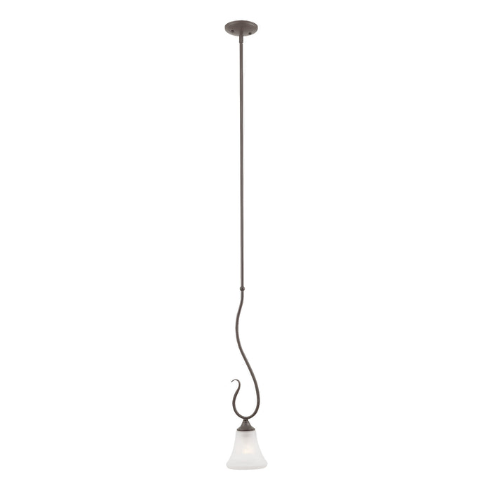 Thomas Lighting SL829163 Elipse 1 Light Pendant In Painted Bronze Painted Bronze
