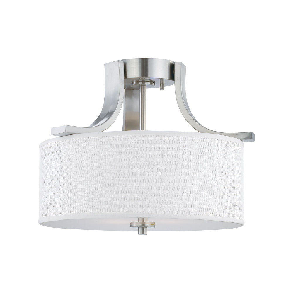 Thomas Lighting SL860978 Pendenza 2 Light Ceiling Lamp In Brushed Nickel Brushed Nickel