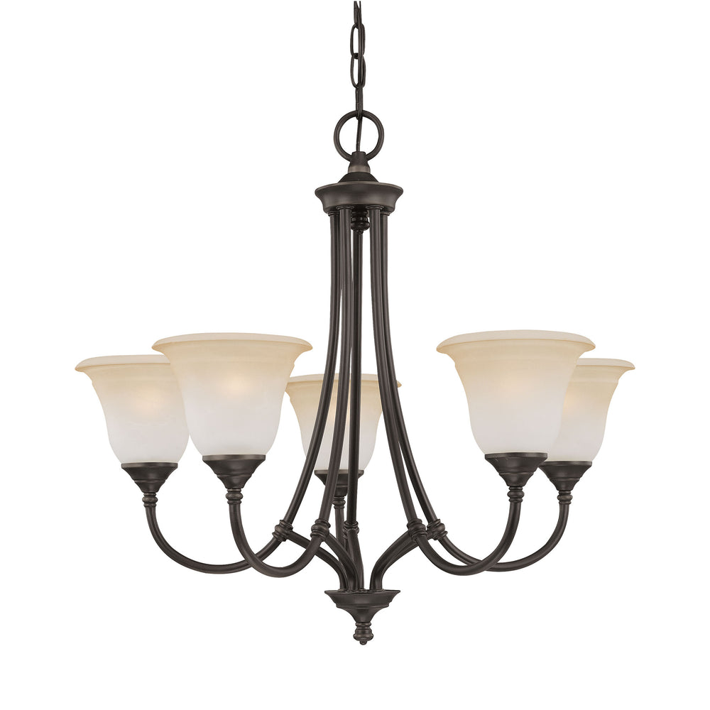 Thomas Lighting SL880162 Harmony 5 Light Chandelier In Aged Bronze Aged Bronze