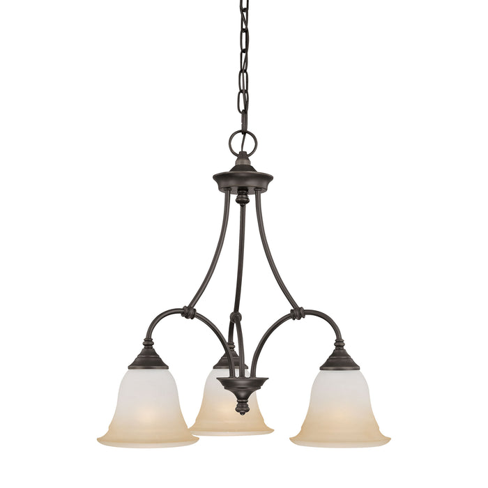 Thomas Lighting SL880362 Harmony 3 Light Chandelier In Aged Bronze Aged Bronze