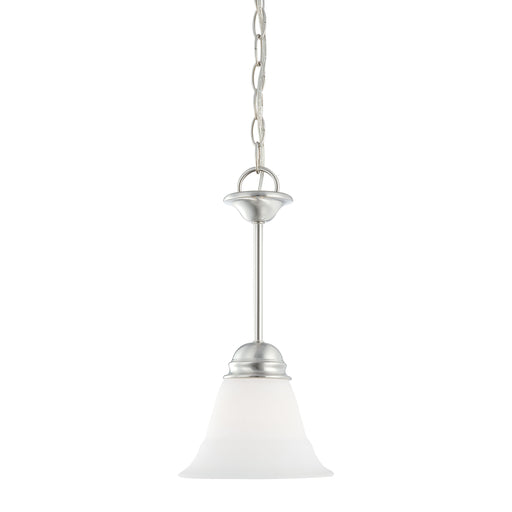 Thomas Lighting SL891578 Bella 1 Light Pendant In Brushed Nickel Brushed Nickel