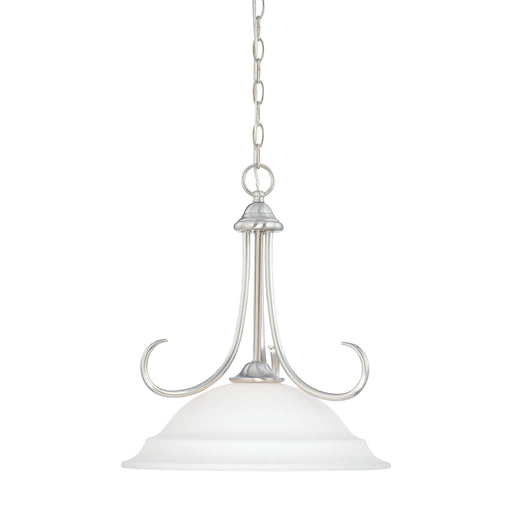 Thomas Lighting SL891678 Bella 1 Light Pendant In Brushed Nickel Brushed Nickel