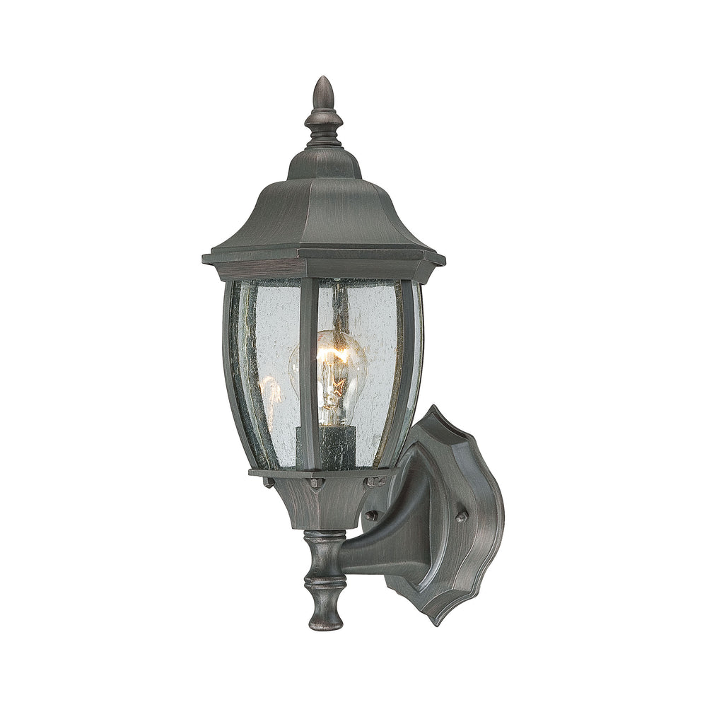 Thomas Lighting SL922363 Covington 1 Light Outdoor Wall Lantern In Painted Bronze Painted Bronze