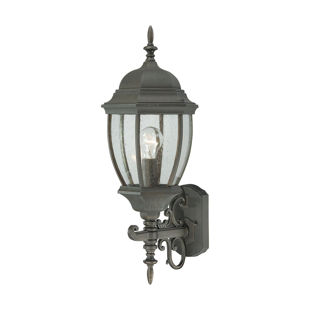 Thomas Lighting SL922763 Covington 1 Light Outdoor Wall Lantern In Painted Bronze Painted Bronze