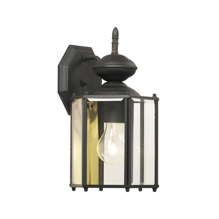 Thomas Lighting SL92427 Brentwood 1 Light Outdoor Wall Lantern In Black Black