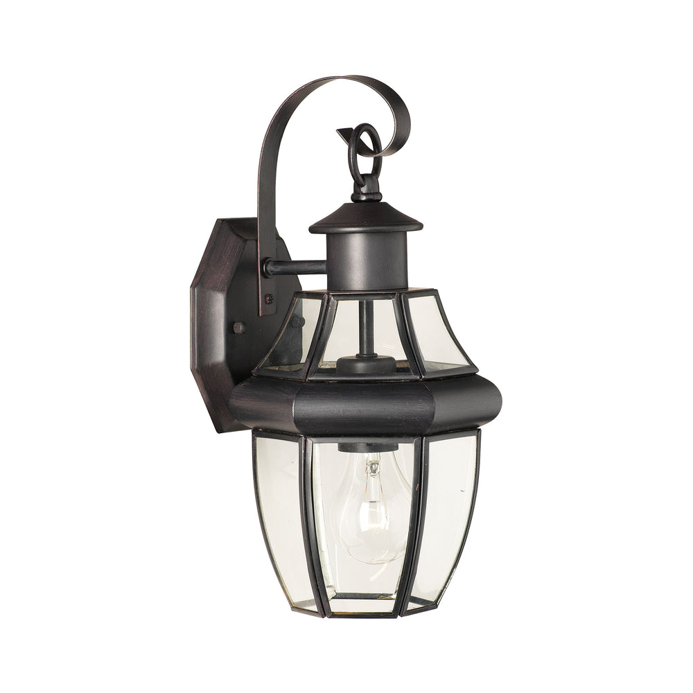 Thomas Lighting SL941363 Heritage 1 Light Outdoor Wall Lantern In Painted Bronze Painted Bronze