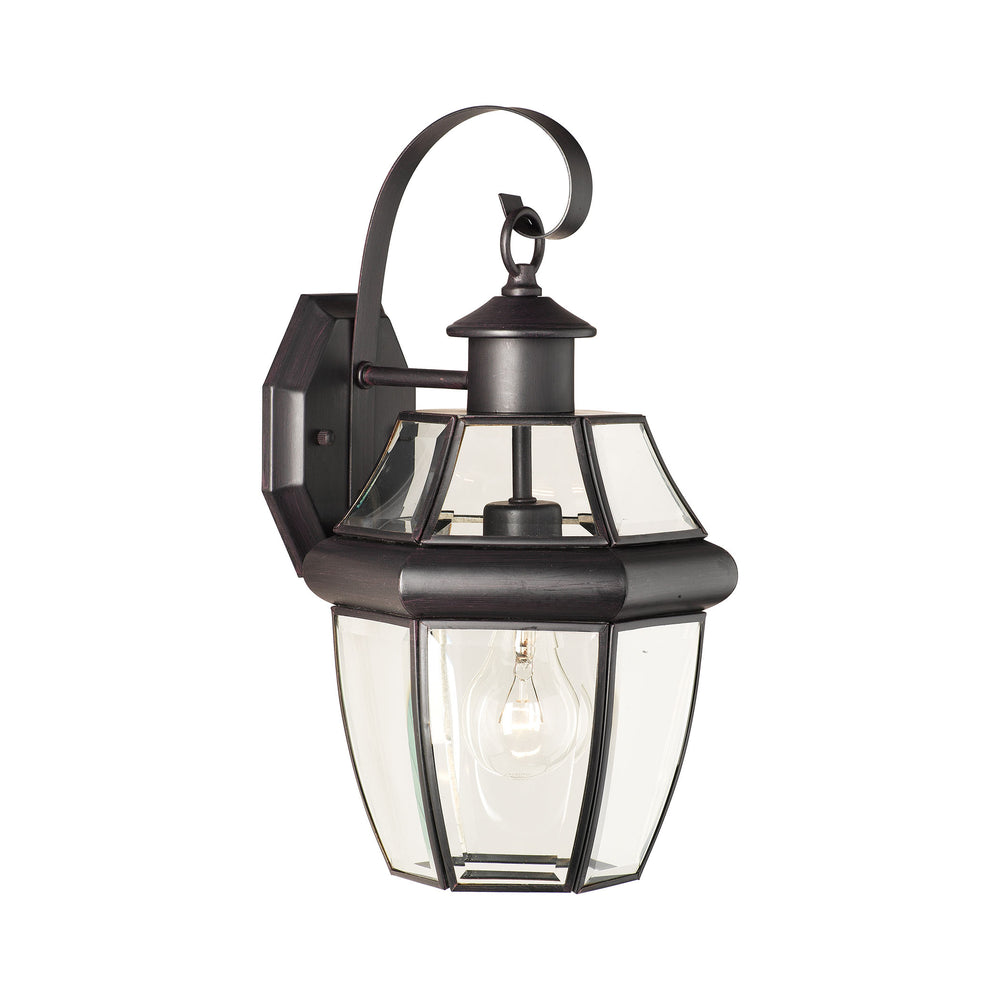 Thomas Lighting SL942463 Heritage 1 Light Outdoor Wall Lantern In Painted Bronze Painted Bronze