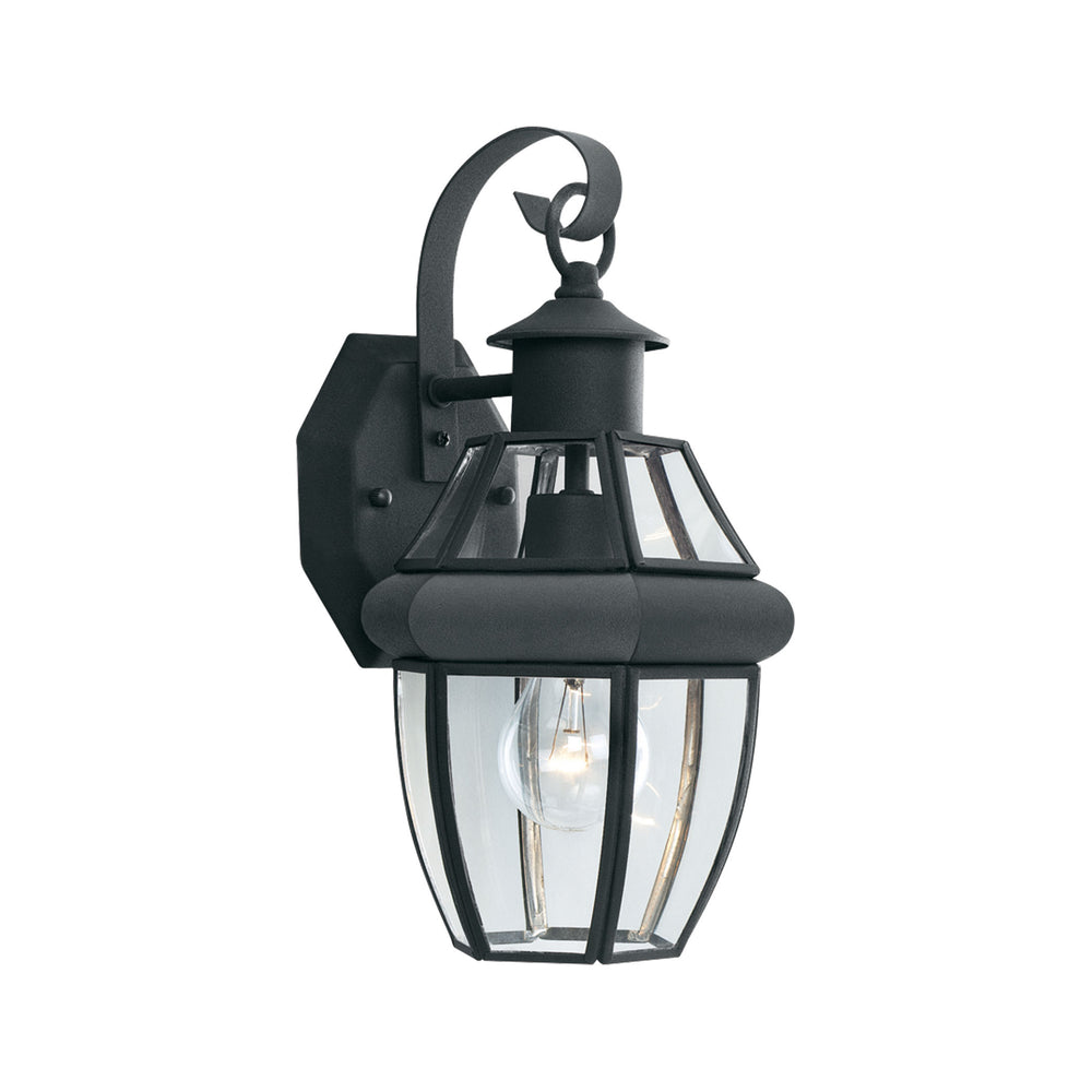 Thomas Lighting SL94247 Heritage 1 Light Outdoor Wall Lantern In Black Black