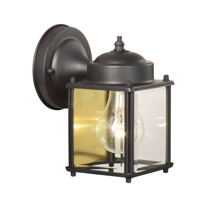 Thomas Lighting SL946963 Essentials Outdoor Wall Lantern In Painted Bronze Painted Bronze