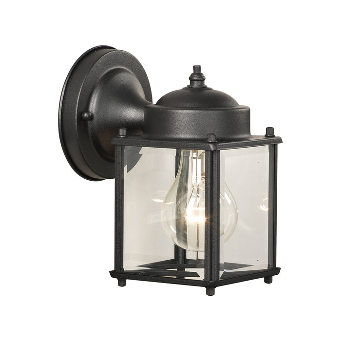 Thomas Lighting SL94697 Essentials 1 Light Outdoor Wall Lantern In Black Black