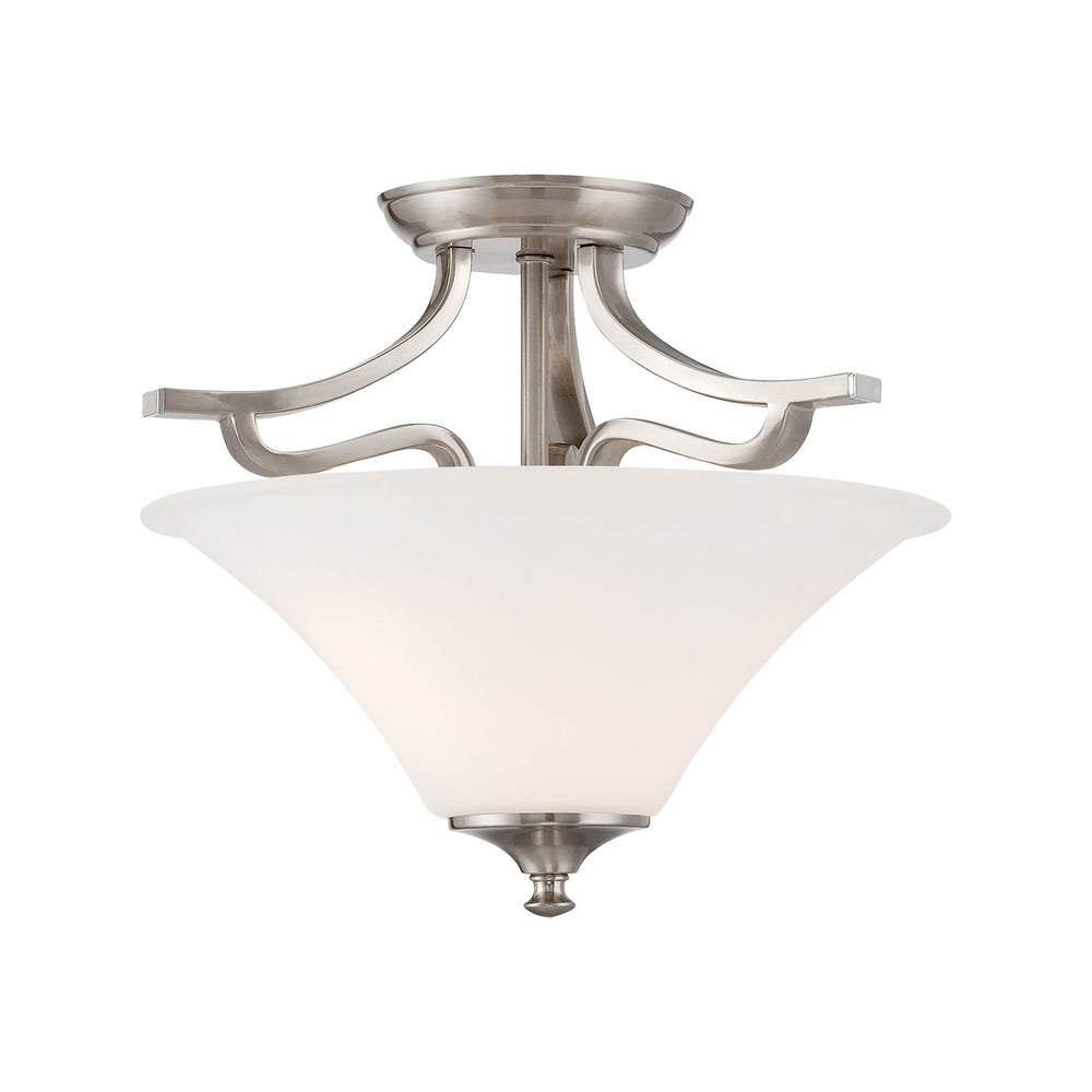Thomas Lighting TC0020217 Treme 2 Light Ceiling Lamp In Brushed Nickel Brushed Nickel