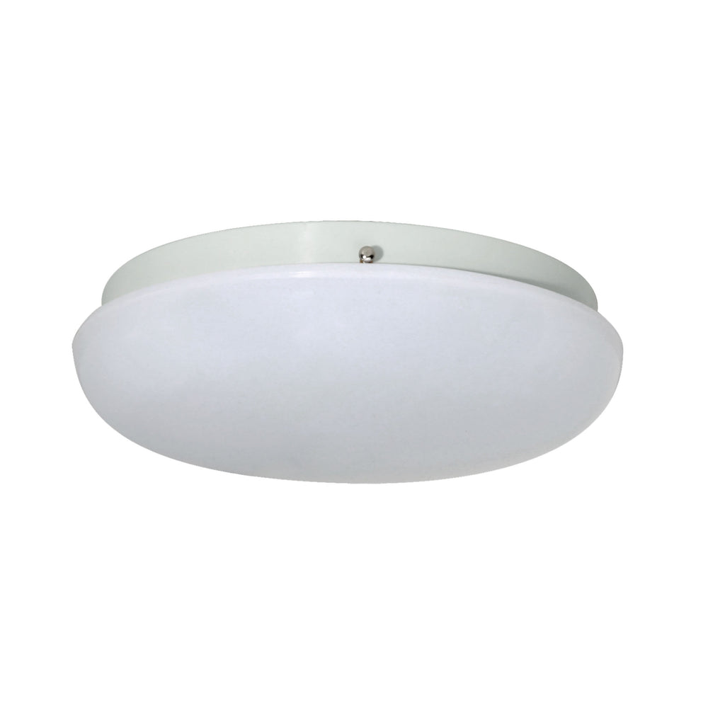 Thomas Lighting TG110134 Essentials 1 Light Flush Mount In White White
