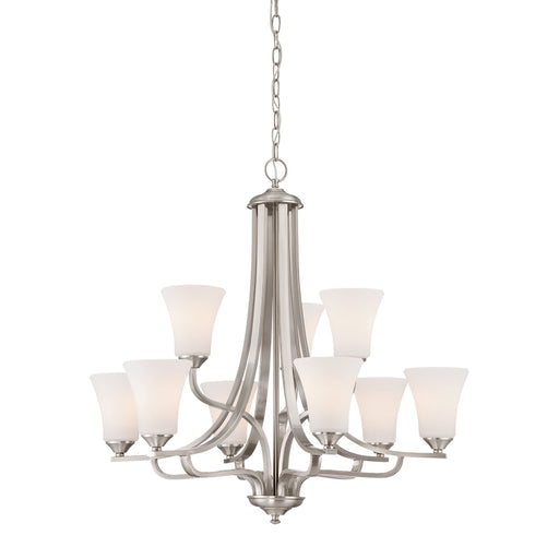Thomas Lighting TK0021217 Treme 9 Light Chandelier In Brushed Nickel Brushed Nickel