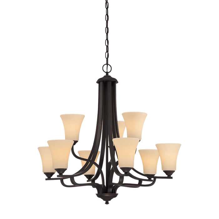 Thomas Lighting TK0021704 Treme 9 Light Chandelier In Espresso Espresso